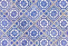 Carrelages antiques bleus de style chinois photographie stock