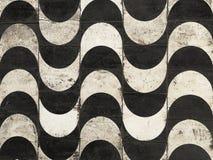 Carrelages noirs et blancs Images stock