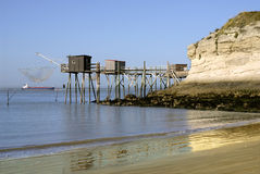 Carrelets at Saint Georges of Didonne in France Royalty Free Stock Photo