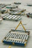 Carrelli del trasporto dell'aeroporto Fotografie Stock