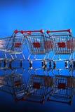 Carrelli di acquisto Fotografie Stock