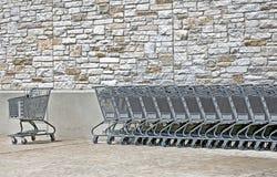 Carrelli di acquisto vuoti Fotografie Stock