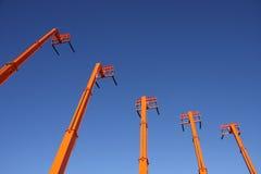 Carrelli elevatori arancioni Fotografia Stock