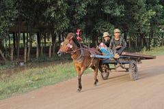 Carrello cambogiano Immagini Stock