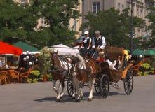 Carrello a Cracovia Fotografie Stock Libere da Diritti