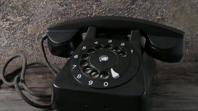 Carrello d'annata del telefono dentro stock footage