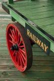 Carrello del bagaglio della ferrovia Fotografia Stock Libera da Diritti