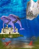 Carrello del delfino Immagine Stock Libera da Diritti