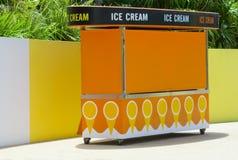 Carrello del gelato Fotografia Stock