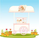 Carrello del gelato royalty illustrazione gratis