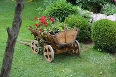 Carrello del giardino Fotografie Stock