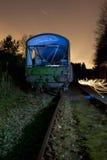 Carrello del treno alla notte Fotografia Stock Libera da Diritti