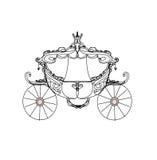 Carrello dell'annata - icona di doodle Fotografie Stock