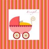 Carrello della neonata Fotografia Stock
