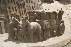 Carrello della sabbia Fotografie Stock