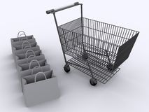 Carrello di acquisto 2 Immagine Stock Libera da Diritti