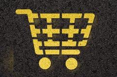 Carrello di acquisto Fotografia Stock Libera da Diritti