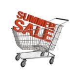 Carrello di acquisto di vendita di estate Immagini Stock