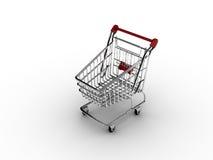 Carrello di acquisto (isolato) Fotografia Stock Libera da Diritti