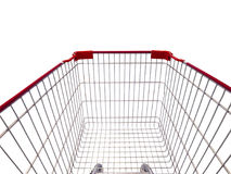 Carrello di acquisto isolato su bianco Immagini Stock