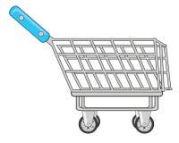 Carrello di acquisto isolato su priorità bassa bianca Illustrazione di vettore illustrazione vettoriale
