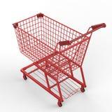 Carrello di acquisto rosso Fotografie Stock