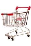 Carrello di acquisto su priorità bassa bianca 4 Fotografia Stock