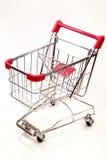 Carrello di acquisto su priorità bassa bianca 8 Immagini Stock Libere da Diritti
