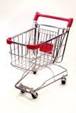 Carrello di acquisto su priorità bassa bianca 9 Fotografia Stock