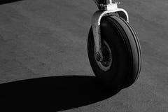 Carrello di atterraggio dell'aeroplano Fotografia Stock