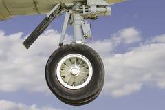 Carrello di atterraggio dell'aeroplano di Commerical Immagini Stock