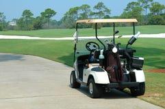 Carrello di golf Immagini Stock