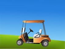 Carrello di golf di vettore Immagine Stock Libera da Diritti