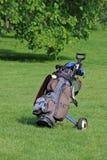 Carrello di golf/sacchetto Fotografia Stock