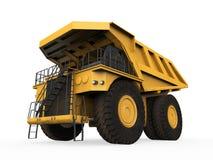 Carrello di miniera giallo  Fotografia Stock