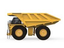 Carrello di miniera giallo  Fotografia Stock Libera da Diritti