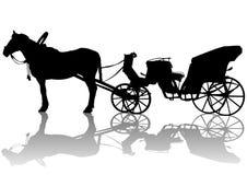 Carrello e cavalli Immagine Stock Libera da Diritti