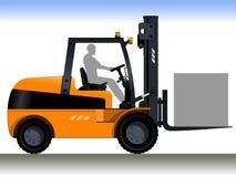 Driver del carrello elevatore illustrazione vettoriale