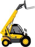 Carrello elevatore a forcale giallo illustrazione di stock