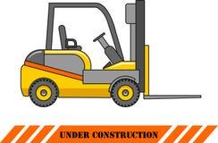 Carrello elevatore Macchine della costruzione pesante Vettore Immagine Stock Libera da Diritti