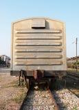 Carrello ferroviario del treno Fotografia Stock