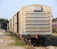 Carrello ferroviario del treno Fotografie Stock
