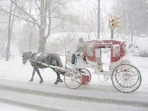 Carrello nella neve Immagine Stock