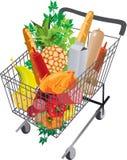 Carrello in pieno dei prodotti. Immagine Stock Libera da Diritti