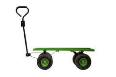 Carrello a quattro ruote isolato Fotografia Stock