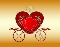 Carrello reale del biglietto di S. Valentino Fotografia Stock Libera da Diritti