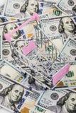 Carrello su soldi Fotografia Stock