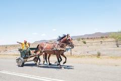 Carrello trainato da cavalli Fotografia Stock Libera da Diritti