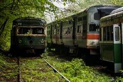 Carrello/tram d'annata abbandonati - Pensilvania Fotografia Stock