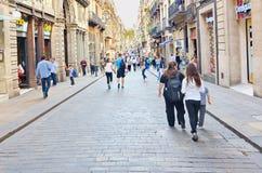 Carrer de Ferran, Gothic quarter, Barcelona Stock Images